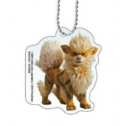 ARCANINE POKEMON Keychain From DETECTIVE PIKACHU Collection 5cm BANDAI