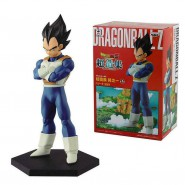 DRAGONBALL Figure Statue 13cm VEGETA Hexagonal Base BANPRESTO Japan Original