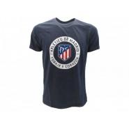 ATLETICO DE MADRID T-Shirt Jersey Coraje y Corazon Blue Navy Logo OFFICIAL La Liga