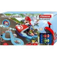 Electric SLOT CAR Racing MARIO KART Mario VS Luigi 2,90 Mt CARRERA FIRST Flipping Elements