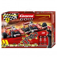 Electric SLOT CAR Racing FERRARI Race Spirit Vettel Raikkonen 1:43 5,3 Meters CARRERA GO