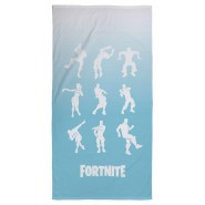 FORTNITE Beach Towel Light Blue 9 Dances White 70x140cm EPIC GAMES BATH Original New