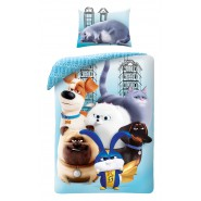 PETS 2 Single Bed Set With 6 Characters from the movie Original DUVET COVER 140x200cm Cotton OFFICIAL
