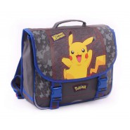 Backpack PIKACHU Pika Pika - Grey - Size 40x35x10cm ORIGINAL Official SCHOOL SPORT