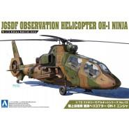 Plastic Model Kit Military JGSDF OBSERVATION HELICOPTER OH-I NINJA Scale 1/72 AOSHIMA Japan