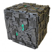 STAR TREK BORG CUBE Space Ship With LIGHTS 16cm Model DieCast EAGLEMOSS