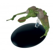 STAR TREK KLINGON BIRD OF PREY Wings Down 8cm Green Model DieCast EAGLEMOSS