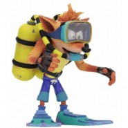 CRASH BANDICOOT as SCUBA DIVER Gear Deluxe Action Figure 16cm Original NECA