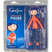 Action Figure CORALINE WITH STRIPED SHIRT movie 18cm NECA Original