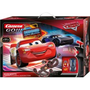 Electric SLOT CAR Racing CARS NEON NIGHTS Disney LIGHTNING McQueen Versus JACKSON STORM 5.3 Meter CARRERA GO !
