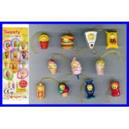 SET 11 Figure TITTI TWEETY BIRTHDAY PARTY WEAR Mini Winnies Style ITALY Gashapon NEW MINT
