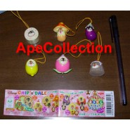 RARE Japanese YUJIN Set 6 Figures CHIP AND DALE Wear PART 2 DISNEY Danglers Disney Mini Winnies Wear Style