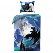 Dragons DRAGON TRAINER Single Bed Set BLACK and WHITE FURY Toothless DUVET COVER 140x200cm COTTON Original
