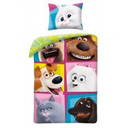 PETS 2 Single Bed Set SQUARED PORTRAITS Characters Original DUVET COVER 140x200cm Cotton OFFICIAL