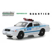 Model 2003 Ford Crown Victoria Police Interceptor From QUANTICO 8cm Scale 1/64 DieCast Greenlight