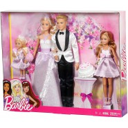 BARBIE Wedding BRIDE GROOM and CHILD Cake Original MATTEL DJR88