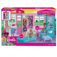 BARBIE Doll House Fully Furnished With Pool Original Mattel FXG54