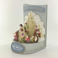 RARE Resin Diorama SNOW WHITE AND THE SEVEN DFWARFES Poster 3D Showcase Collection MASTER REPLICAS