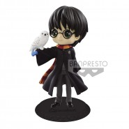 Figure Statue 14cm HARRY POTTER QPOSKET 2 Black Jacket Hogwarts Magic Hedwig Banpresto Version A