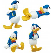 DONALD DUCK Complete Set 4 FIGURES Emotional Collection DISNEY TOMY Gashapon