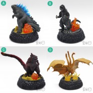 GODZILLA HG D+ Set 4 FIGURES 9cm High Grade DIORAMA + Effects Original BANDAI Gashapon