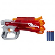 NERF Gun BLAZEFIRE Long Range 27 Meters Fires 4 ELITE DARDS ORIGINAL Hasbro B3575