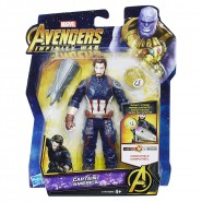 Action Figure CAPTAIN AMERICA 14cm Infinity Stone Marvel Original HASBRO E1407 Hero Vision