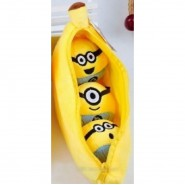 BANANA With Inside 3 MINIONS PLUSH 10cm