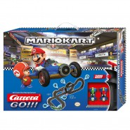Electric SLOT CAR Racing MARIO KART Mario VS Luigi 5,3 Mt CARRERA GO!! LOOP and Fly Over Curve