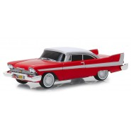 Model Car PLYMOUTH FURY 1958 Movie CHRISTINE EVIL VERSION Dark Windows SCALE 1/64 Greenlight