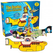 PUZZLE 600 Pcs BEATLES Yellow Submarine DOUBLE and SHAPED Official Aquarius