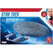 STAR TREK Model SNAP Kit U.S.S. ENTERPRISE NCC-1701-D Scale 1:2500 AMT 1126M/12