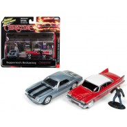 CHRISTINE Diorama GARAGE 2 Cars and REPPERTON's Figure Scale 1/64 Original Johnny Lightning Release 1
