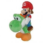 MARIO RIDING YOSHI Plush Soft Toy Peluche 30cm Super Mario Bros Kart Wii Land