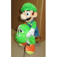 LUIGI RIDING YOSHI Plush Soft Toy Peluche 30cm Super Mario Bros Kart Wii Land
