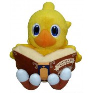 Plush 15cm CHOCOBO With MAGIC BOOK Yellow Bird FINAL FANTASY