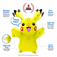 POKEMON Interactive Figure PIKACHU 10cm TALKING Sounds Lights Sensors Original WCT
