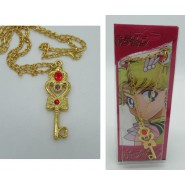 Sailor Moon NECKLACE with Pendant KEY OF THE TIME Version With RED BLISTER