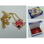 SAILOR MOON  Pendant Necklace WINGED HEART Version with SQUARED BOX