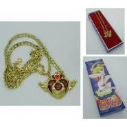 SAILOR MOON  Pendant Necklace WINGED HEART Version with LONG BOX