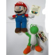 Couple 2 Plushes 15cm MARIO and GREEN YOSHI from SUPER MARIO Bros Kart Land ORIGINAL PMS