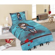 GIRL Doll With BLUE DRESS - SINGLE BED SET Original SANTORO Gorjuss Original DUVET COVER 140x200cm Cotton OFFICIAL