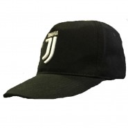 JUVENTUS JJ Hat Cap OFFICIAL Black WHITE LOGO New ADULT SIZE