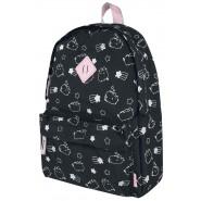 School Backpack PUSHEEN Cat BLACK PINK Glitter Big 40x30cm ORIGINAL