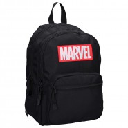 School Backpack MARVEL Black Red LOGO Big 36x28cm Double Pocket ORIGINAL