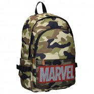 School Backpack MARVEL ARMY Mimetic Big 45x30cm Double Pocket ORIGINAL