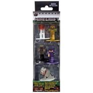 MINECRAFT Set 5 Mini Figures METAL 4cm SET A - GOLEM HUSK ZOMBIE ALEX Original JADA Toys NANO Metalfigs