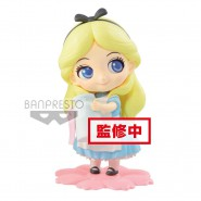 Figure Statue 10cm ALICE In Wonderland SWEETINY LIGHT BLUE Dress With Bottle  Banpresto DISNEY SPECIAL Version B