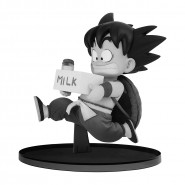 DRAGON BALL Figure Statue SON GOKOU Kid Young With Milk 11cm BLACK AND WHITE Version BWFC Vol. 7 Banpresto Dragon Ball