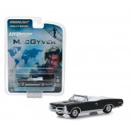 Model Car BLACK PONTIAC GTO CONVERTIBLE 1967 NORMAL Wheels From MacGyver Scale 1/64 Greenlight MAC GYVER